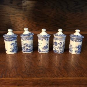 Spode collection spice jars
